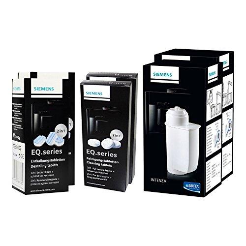 2x SIEMENS BRITA Intenza Wasserfilter (TZ70003) + 2x SIEMENS Reinigungstabletten (TZ80001) + 2x SIEMENS Entkalkungstabletten (TZ80002)