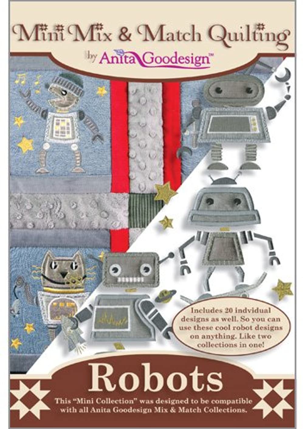 Anita Goodesign ~ Robots ~ Embroidery Designs CD