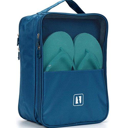 Sac à Chaussures Voyage Poche Chaussures Chaussures Pochette De Sac à Linge Pack Rangement,Blue2