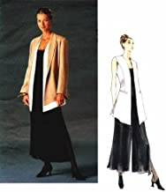 Misses Jacket Vest Palazzo Pants Claude Montana Vogue 1540 Sewing Pattern Size 14 - 16 - 18