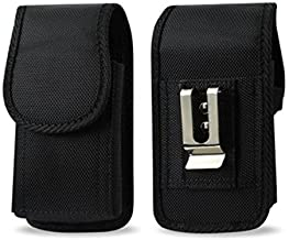 AGOZ for Samsung Galaxy S8 Plus S8+, S9 Plus, S10 Plus, A20,HeavyDuty Rugged Camping, Hiking, Contractor Vertical Canvas Case Two Belt Loops, Metal Clip (FITS WITH PROTECTIVE COVER,NOT FOR BARE PHONE)