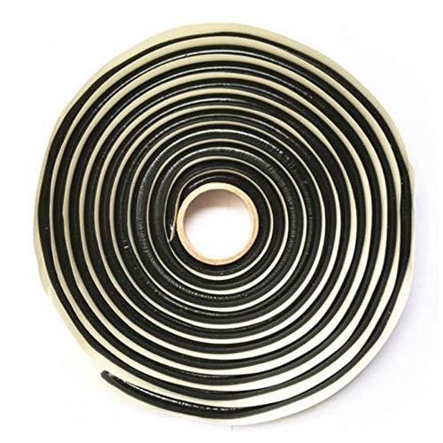 Teepao - Cuerda de butilo Multiusos de Alta viscosidad butilo, Cinta selladora de Sellado de Pegamento para Todos los vehículos/luz/Ventanas/Parabrisas, Rollo de amortiguación de Sonido – 4 m
