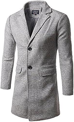 Le Long Style Coupe - Vent dans la Mode pour Hommes et Le Mode Windcoat Long Manteau Style,gris Clair,2XL