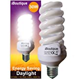 iBoutique 30W Edison Screw (E27) Daylight Energy Saving Light Bulb - Great For SAD Sufferers, Snooker, Pool, Hobbies, Crafts, Photography/Actual Equivalent Output: 150 Watts