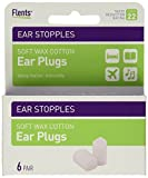 Flents Ear Stopples (6 pairs of soft wax ear plugs) NRR 22