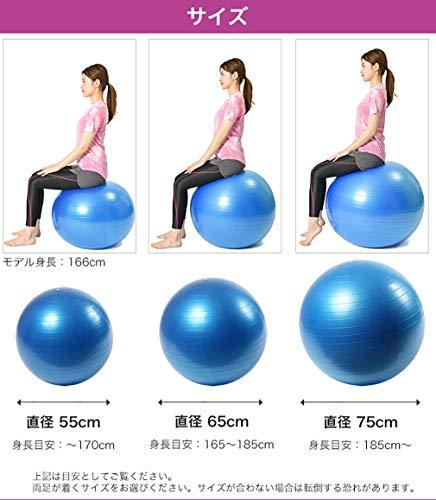 PURERISE(ピュアライズ)バランスボールフットポンプ付き(オレンジ,75cm)