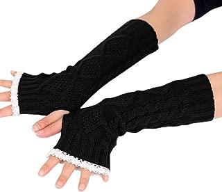 Paar Dame Feste Elastic Finger Ellbogen Lange Armstulpen Handschuhe Neu