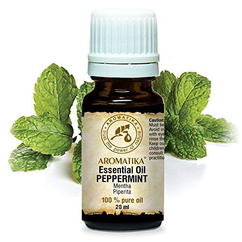 Olio Essenziale di Menta Piperita 20ml - India - Naturale e Puro 100% - Calmante Naturale - per un Buon Sonno - Profumi per la Casa - Aromaterapia - Massaggio - Relax - Peppermint Essential Oil