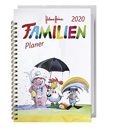 Helme Heine Familienplaner Buch A5. Taschenkalender 2020. Wochenkalendarium. Spiralbindung. Format 15,2 x 23,2 cm