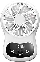 YAOHEHUA Reizen Oplaadbare Draagbare Pocket USB Fan 3 Speed Verstelbare Luchtkoeler Hand Held Real Time Display Touch Klok...