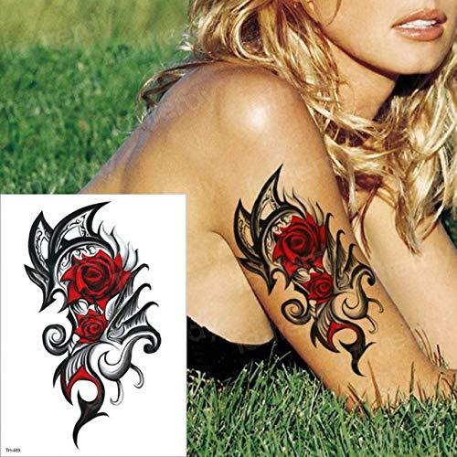 tzxdbh 2 Piezas Tatuaje Temporal Rosa brújula Manga Temporal ...