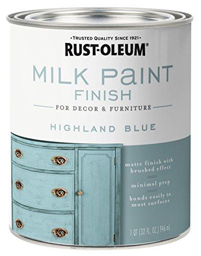 Rust-Oleum 331050 Milk Paint Finish, Quart, Highland Blue