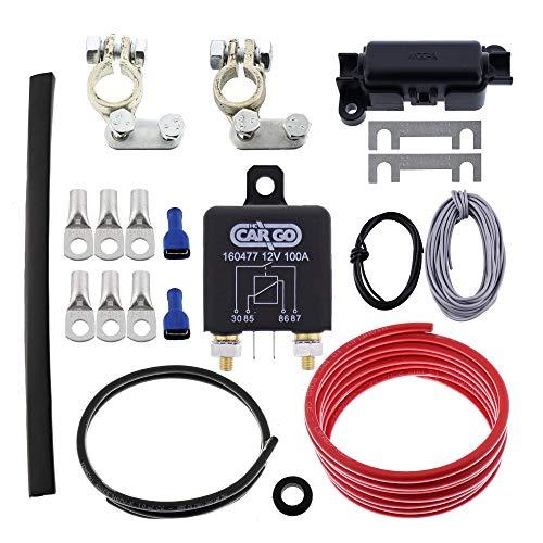 DT Parts Trennrelais RL180/12 Einbauset 5m mit 10mm² Kabel von TheDrive