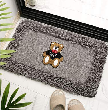 Alfombra de la habitación Cuarto de baño de gran tamaño alfombra de pelo Ducha Mat suave textura Tapetes de piso lavable a máquina Baño Mat con un absorbente de microfibra suave manta for la cocina /