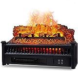 Chimenea eléctrica con estufa de leña estufa eléctrica fogatas calefactoras con efecto de llama independiente y portátil con protección contra sobrecalentamiento para calentar rápidamente una habita