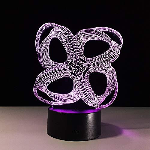 Nuevos gráficos abstractos Creativo Gradiente acrílico Novedad Luz nocturna 3D LED Lámpara de mesa niños regalo de cumpleaños decoración de la habitación junto a la cama
