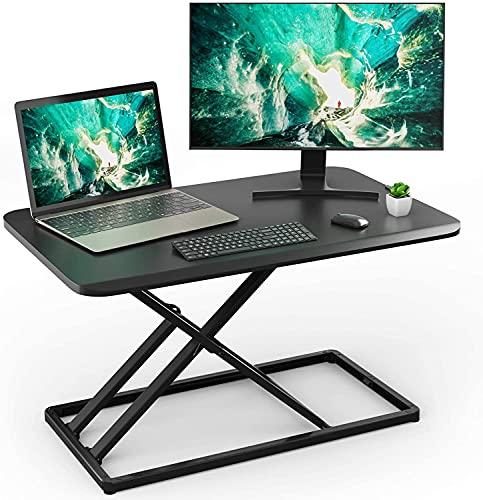 Standing Desk Converter Height Adjustable Stand up Desktop Riser, Sit...