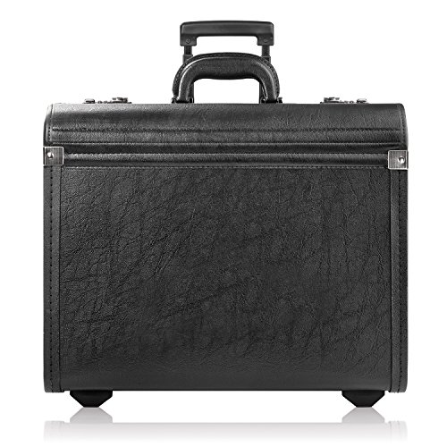 Solo New York Lincoln Hard Sided Rolling Catalog Case  Black