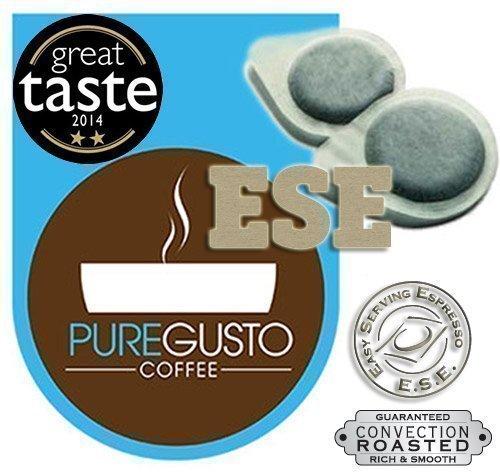 PureGusto - Signature - Great Taste Award Winning - ESE Coffee Pods - 100