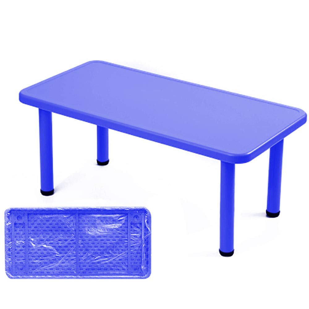 Mesa de Comedor/Mesa de Juego Rectangular para jardín de Infancia | Silla de Respaldo de plastico para el hogar - Azul: Amazon.es: Hogar