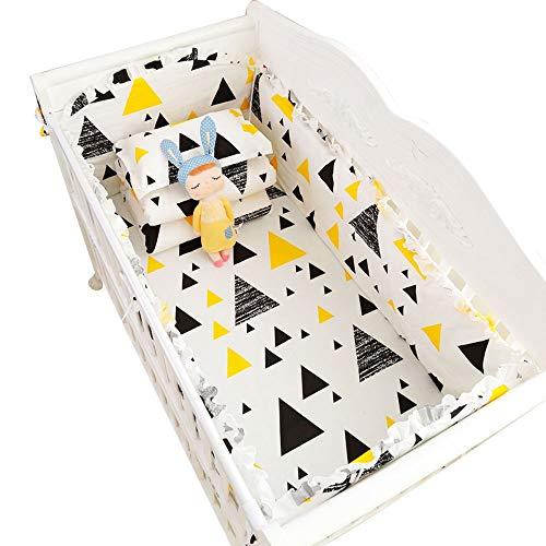 Parure de lit en coton, lit berceau, literie pour bébé, literie pour bébé, ensemble de 7/8, blanc, 104 * 58, huit ensembles
