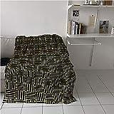 MNXNEZ Art Deco Blanket Room/Bedroom,Repetitive Grungy Geometric Vintage 1920s Inspired Design,Print Summer Quilt Comforter,Blanket for Sofa Couch Bed 60