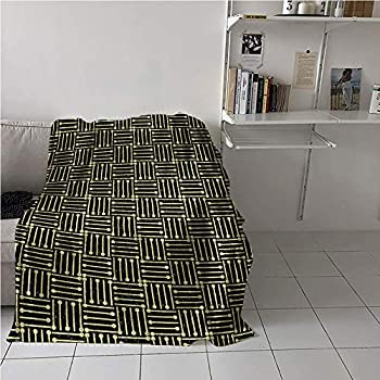 MNXNEZ Art Deco Blanket Room/Bedroom,Repetitive Grungy Geometric Vintage 1920s Inspired Design,Print Summer Quilt Comforter,Blanket for Sofa Couch Bed 60  x 91