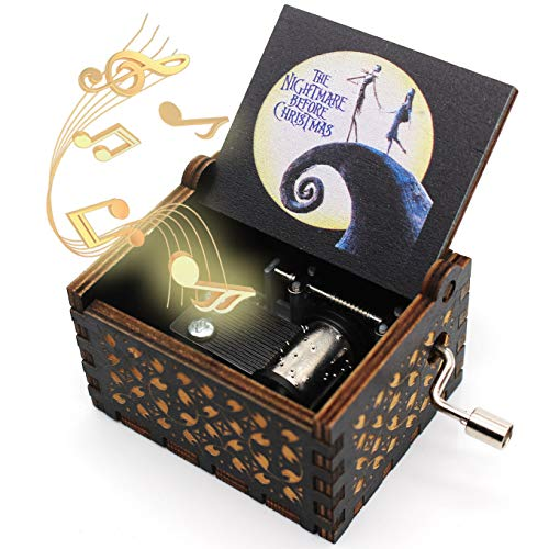 ukebobo Wooden Color Painted Music Box - The Nightmare Before Christmas Colorful Painted Newest Designed Music Box – 1 Set