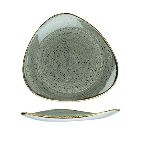 Churchill Stonecast -Triangle Plate Teller- Durchmesser: Ø26,5cm, Farbe wählbar (Peppercorn Grey)