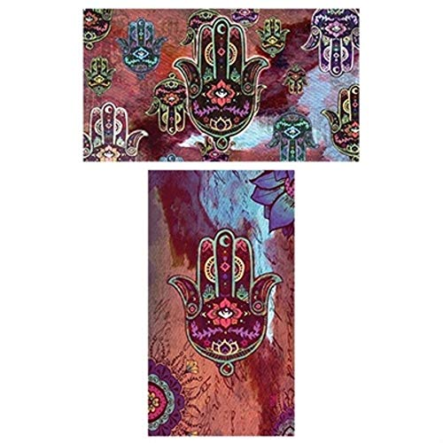 "Decorative Matches, (Set of 3 Match Boxes) Long Wooden Matches,Strike Strip on Side of Box- Colored Match Tips- Candle and Fireplace Wooden Matches 4.375"" x 2.35"" x .75"" (Hamsa)"