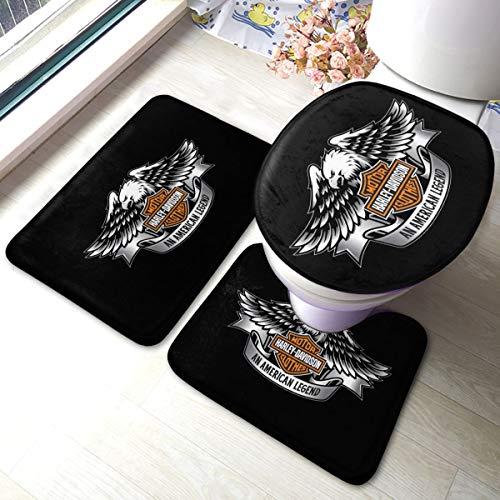N / A Harley Davidson - Alfombra antideslizante para puerta, 3 piezas, antideslizante, cómoda y suave.