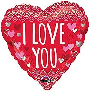 Burton & Burton I Love You Heart Mini Shape Foil Balloon