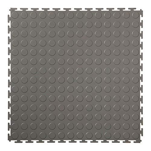 Klickfliese mit Noppen dunkelgrau 500x500x4,5mm | Klickfliesen Noppen | Klickfliesen