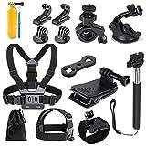 CeFoney Kit de accesorios de cámara de acción, 14 en 1 accesorios compatibles para cámara de acción Gopro Kit de accesorios
