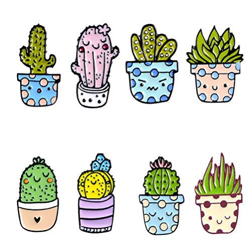 SOIMISS Broche de Esmalte de Cactus Lindo Pin de Solapa de Planta de Dibujos Animados Alfileres de Novedad Regalo de Joyería Broche Decorativo Accesorios de Disfraz para Bolsa de Tela