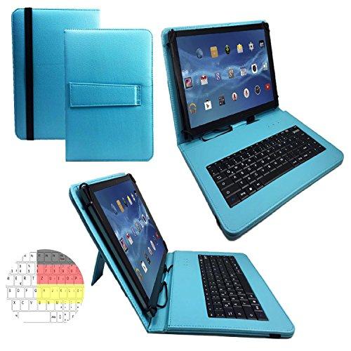 CHUWI Hi10 pro Tablet - Deutsche Tastatur Tablet Schutzhülle 10.1 mit Standfunktion - 10.1 Zoll Türkis Tastatur