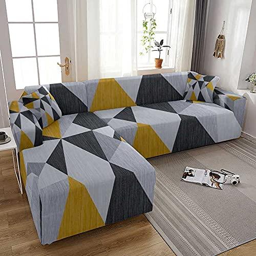 WXQY Funda de sofá elástica geométrica para Sala de Estar Todo Incluido Funda de sofá en Forma de L Fundas de sofá Protector de Muebles A1 1 Plaza