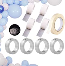 Balloon Arch Kit for Balloon Garland Decorating , 64 Ft Balloon Tape Strip, 400 Dot Glue Stickers, 65 Ft Masking Tape for Wedding Party Birthday Balloon Decoration DIY Christmas - No Harm to Wall Surface