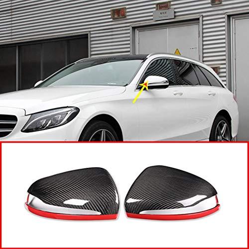 Remplacement de Couverture de Capuchon de rétroviseur de Voiture en Fibre de Carbone véritable pour conducteur Gauche LHD C w205 E W213 GLC-Classe X253 S Class w222 Rouge