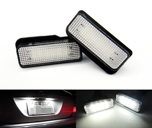 2 x LED licence lampe de plaque d'immatriculation Blanc Canbus pour MB W211 S211 Classe E S203 W219 CLS R171 SLK