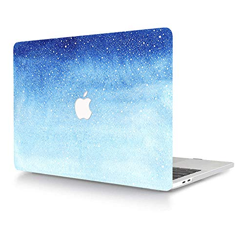 AJYX MacBook Pro 13 inch Case Model A1425 A1502 2015 2014 2013 2012 Smooth Plastic Protective Shell Laptop Hard Cover Only Compatible with MacBook Pro 13' with Retina Display, Blue Gradient Shiny