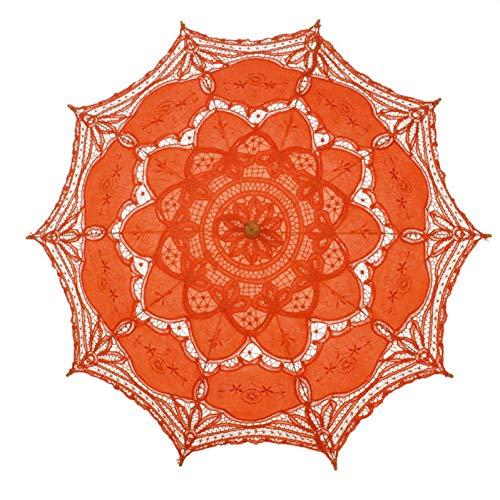 Nfhbbaa Ombrello Da Sposa Ombrello Di Moda Fatto A Mano Ricamo In Cotone Ricamo Ombrello Da Sposa Multicolore Pizzo Parasole Ombrello Decorazione Per Matrimonio