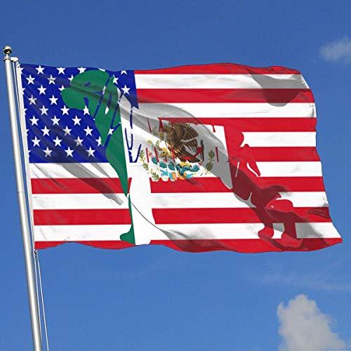 Zudrold Banderas al Aire Libre Bandera de México Rottweiler Bandera de Perro para fanáticos de los Deportes Fútbol Baloncesto Béisbol Hockey