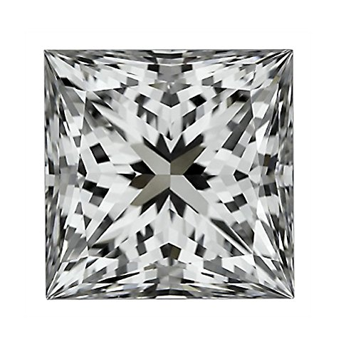 GIA Certified Princess Cut Natural Loose Diamond 3 (3 Carat) H Color SI2 Clarity