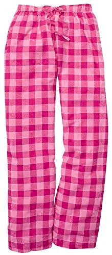 boxercraft Cotton Flannel Pant with Side Pocket-Mens-Womens, Bubblegum L