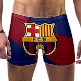 FHJRTHYE5TYG Hombres Color Bandera Fo Barcelona Emblema Bañador...