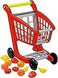 Little People 2 en 1 Carrito Compra Frutas y Verduras Juguetes Supermercado para Cortar Cocina Alimentos Accesorios Regalo Cumpleaños para 3 4 5 6 Años Niños Niñas. 41cm