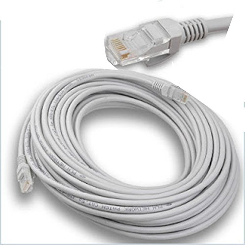 Cable Ethernet LAN 30metros de red RJ45- Categoría 5E - Conector largo UTP para ordenadores