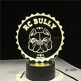 Pug Bulldog Night Lights Chiot Éclairage Décoration De La Maison...
