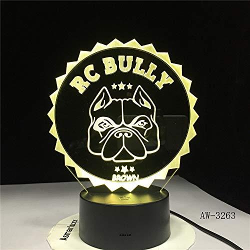 Mops-Bulldoggen-Nacht beleuchtet Welpen-Beleuchtungs-Inneneinrichtungs-Farbtischlampe